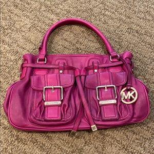 Michael Kors Magenta/Pink Leather Shoulder Bag